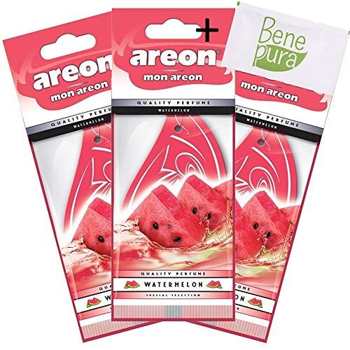 AREON Mon Watermelon Ambientador Coche Colgante Rosa