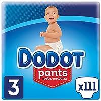 Dodot Pants Pañal-Braguita Talla 3, 111 Pañales, Fácil De Cambiar Con Canales De Aire, 6 a 11kg