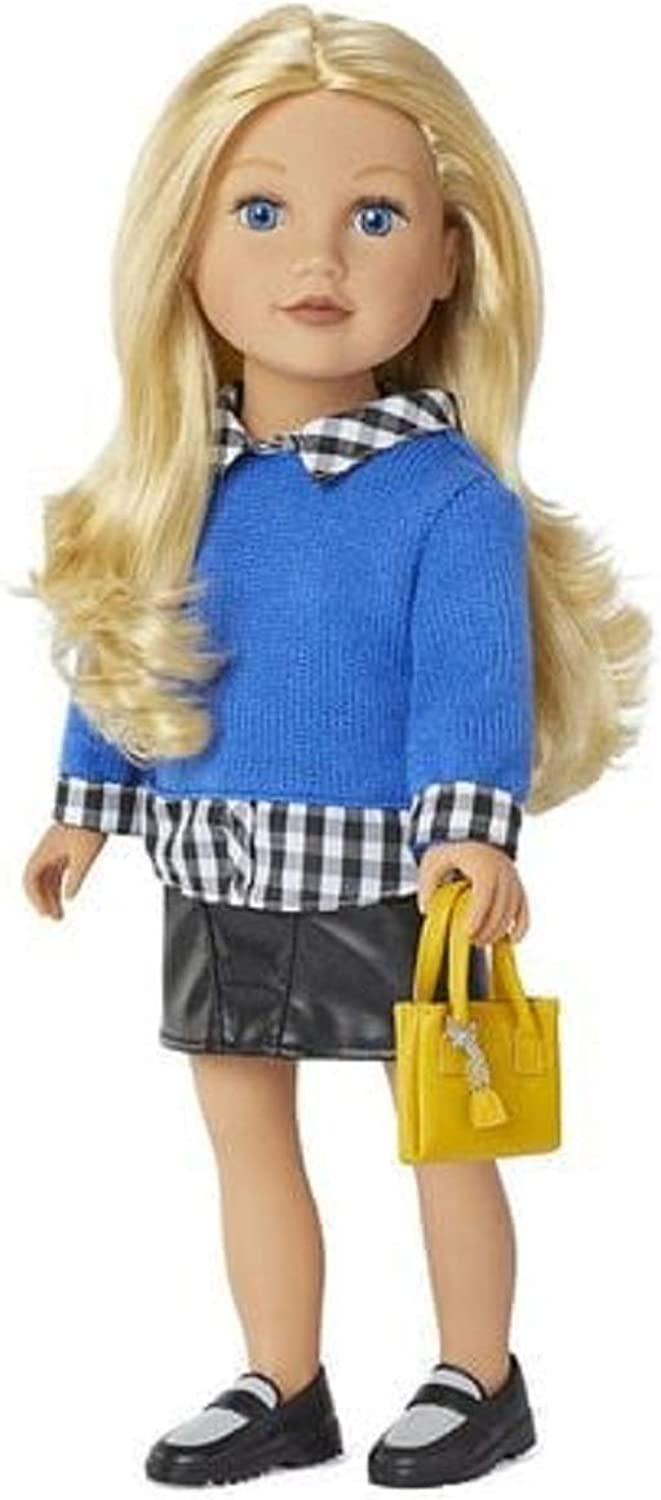 Journey Girls Meredith 18  Doll with Black Skirt and bluee Sweater
