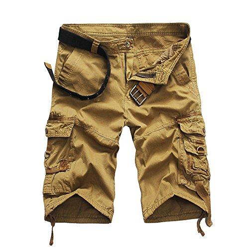 OSYARD Männer Lässig Kurze Hose mit Tasche Hosen Cargoshorts