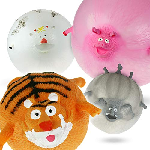MostroMania Palloncini a Forma di Animali, Set 4 Balloons da Gonfiare, Palloncini 3D per Bambini, Palloncini Divertenti per Feste, Animali Gonfiabili