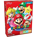 Kellogg's Super Mario Assorted Fruit Flavored Snacks, 10 Count, Pack of 8