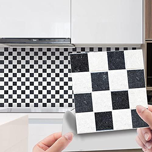 Pegatinas De Azulejos De Cristal De Mosaico 3D Para Baño / Cocina , Peel And Stick Backsplash Glass Tilediy Pegatinas De Pared Autoadhesivas Pegatinas De Suelo-20Pcs_Msc134