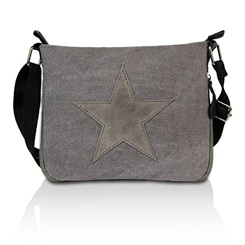 Gloop Damen Handtaschen Tasche Schultertasche Umhängetasche mit Stern