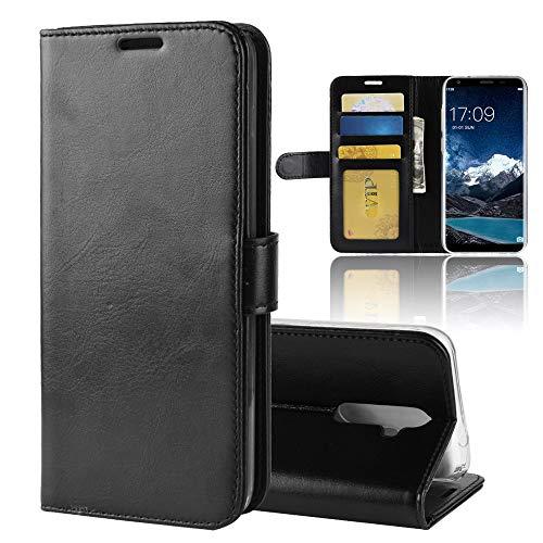 MINGYOUNG Leder Hülle für oukitel K5,Flip Hülle Wallet Stylish mit Magnetisch Ledertasche SchutzHülle für handyHülle fürn Cover (Schwarz)