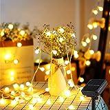 Solar Lichterkette, Mr.Twinklelight® 6.7M 52er LED Lichterkette Außen, 8 Lichtermodi IP44, ideal für Weihnachtsbeleuchtung, Außen und Innen Deko, Gärten, Party, Bäume, Warmweiß