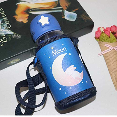chengxiangqiange Star Cover Children 's Water Cup Baby Tube Cup 500ML/Lapin Bleu foncé
