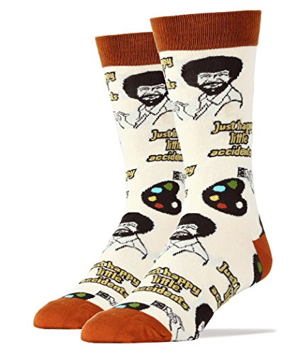 Oooh Yeah Socks Men's Luxury Combed Cotton Funny (Happy Lil Accidents),Large