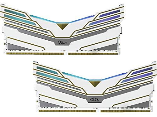 OLOy DDR4 RAM 16GB (2x8GB) Warhawk Aura Sync RGB 3600 MHz CL18 1.35V 288-Pin Desktop Gaming UDIMM (MD4U0836181BCWDA)