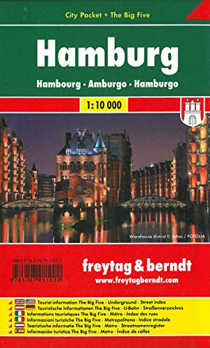 Hamburg, City Pocket, Stadtplan 1:10.000