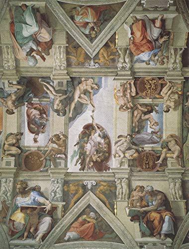 203 Detail van het plafond van de Sixtijnse Kapel - Film Film Poster - Beste Print Kunst Reproductie Kwaliteit Wanddecoratie Gift Canvas A0