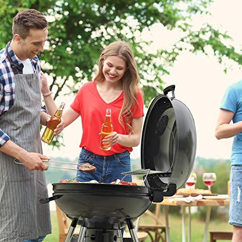 TACKLIFE Holzkohle Grill, Kugelgrill 91 * 76 * 56 cm, ø 57cm mit 4 Dicke Beine, Rundgrill mit Extra Grill und Regal, geeignet für Partys, Camping, Grillen (Empfohlene: 5-12 Personen) - CG01A - 4