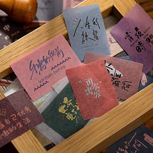 PMSMT 60 unids/Lote Pegatinas de papelería Kawaii Recuerdos Antiguos planificador Diario Pegatinas Decorativas para móviles Scrapbooking DIY Pegatinas artesanales