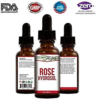 Pure Rose Hydrosol (Rosewater) - Filled With Natural Antioxidants & Skin-Loving Vitamins A & C. Hydrates, Tones, and Rejuvenates Tired Skin. - 2 oz