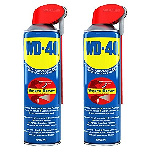2x 500ml WD-40 Smart Straw Multifunktionsöl Öl Multifunktionsprodukt Vielzweckspray Schmiermittel Rostlöser Kriechöl Sprühöl Schmieröl Dose mit integrierten Sprühkopf
