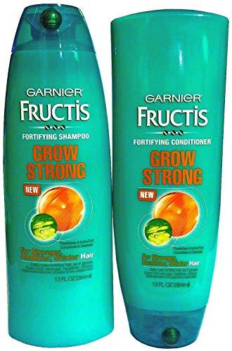 Garnier Grow Strong Shampoo and Conditioner Set, 13 Ounce