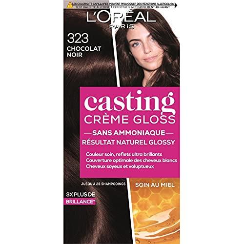L'ORÉAL - Casting Crème Gloss Coloration 323 Chocolat Noir L'Unité - Lot De 2 - Vendu Par Lot