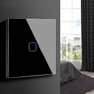comprar comparacion Aimengte Interruptor táctil inteligente LED capacitivo, resistente al rayado A prueba de arañazos Templado Interruptor de ...