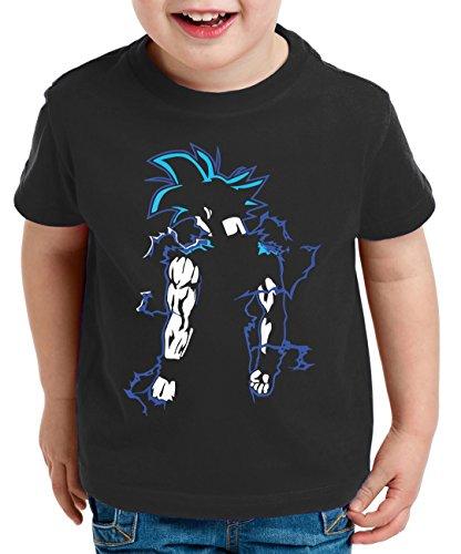 WhyKiki Goku Back Super Son T-Shirt per Bambini Goku Dragon Master Ball Vegeta Turtle Roshi Db, Farbe2:Schwarz;Kinder T-Shirt Größe:98/104