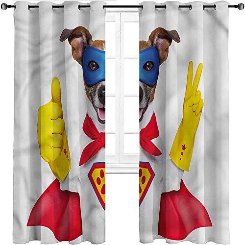 UNOSEKS LANZON Vorhänge Superheld, Comic Bubble Words Texturierte Vorhänge für Diele/Garage, Polyester-Mischgewebe, Mehrfarbig 12, W214 cm x L183 cm