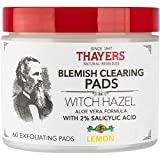 THAYERS Alcohol-Free Witch Hazel Blemish Clearing Pads, 60 Pads