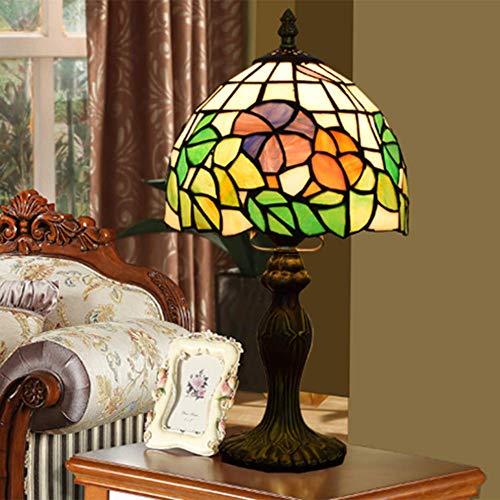 AWCVB Lámpara De Mesa Tiffany Tiffany Tiffany Tiffany De 8 Pulgadas Lámpara De Estudio De La Lámpara De La Cama De La Cama Retro
