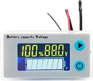 KeeYees デジタル電圧計 バッテリー残量表示器 温度センサ付き ブザー内蔵 低電圧アラーム 液晶ディスプレイ 汎用型 10V-100V 各種の電池に対応 日本語取扱書あり(同梱されてない)