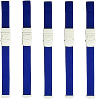 Zaptex Buckle Tourniquet First Aid Quick Release Medical Emergency Pack of 5 (Blue)
