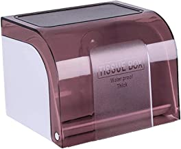 Toiletpapierrolhouder, Moderne Tissue Roll Dispenser Rond voor Badkamer Keuken Wasruimte -Bruin
