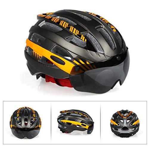 Afneembare magnetische veiligheidsbril-sporthelm instelbare veiligheidshelm. Oranje M