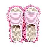 KCCCC Zapatillas de trapeador 2 Pares Limpie Slippers Limpieza Multifuncional Limpieza de Piso Cubierta de Zapato de Limpieza de Polvo Calcetines de pie Freg La Tapa Zapatillas de Limpieza de Piso