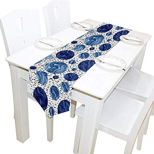 sunnee-shop tafelloper interieur, aquarel-marine cirkelt tafelkleed-loper-koffiemat een