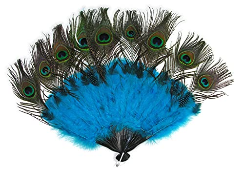 Forum Novelties Peacock Tail Feather Handheld Fan Costume Access