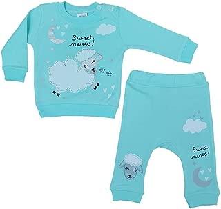 Kız - Erkek Bebek Tilki Modelli Pamuklu Uzun Kol Zıbın 1-6 Ay Mavi - C71826-03