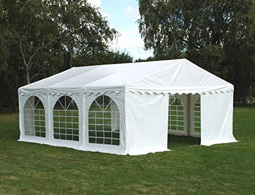 Dancover Carpa para Fiestas Carpa Eventos Original 5x6m PVC, Blanco
