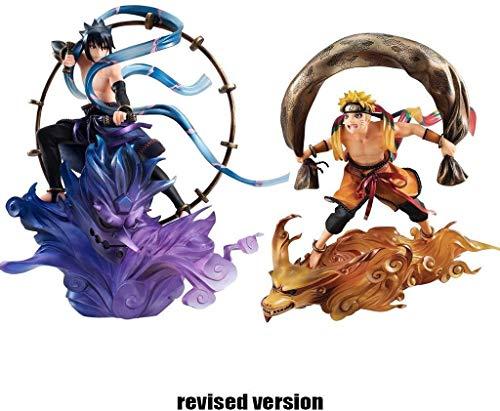 SAMER Figura Naruto Shippuden Sasuke Uchiha Raijin y Naruto Uzumaki GEM Series Remix Estatua