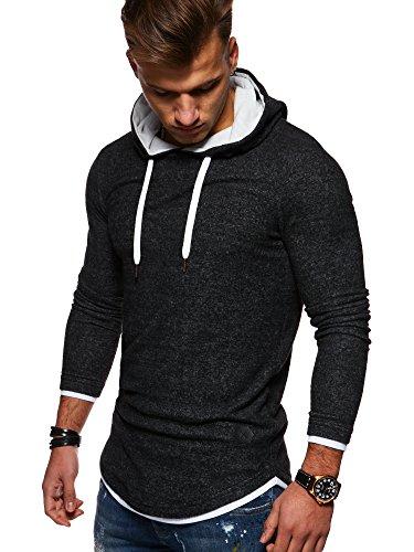 MT Styles 2in1 Oversize Hoodie avec capuche homme MT-7426 [noir, XL]