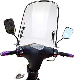 Windschutzscheibe Universal Motorrad Windabweiser Spoiler, Bruchsicheres, Verbreiterte Kante, winddichtes PC Für Motorräder, Elektroautos, Roller