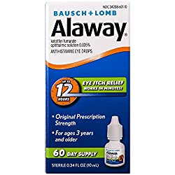 Alaway eye drops relieve allergies