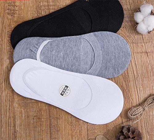 Calcetines de deporte Aerlan de algodón acolchados de corte bajo, calcetines invisibles de algodón para hombre, desodorantes, absorbentes del sudor y transpirables, tamaño A5 doble_Talla única, calcetines de entrenamiento para correr