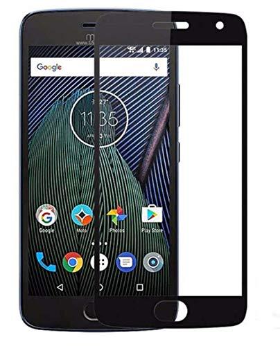 Protector de Cristal Templado Motorola Moto G5 Plus 5.2 Pulgadas Negro Completo...