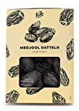 KoRo - Dátiles Medjool Large Delight 1 kg - Madurados bajo el sol de Israel - Dátiles especialmente jugosos y suaves - Sabor a caramelo - Frutos grandes - Snack rico de fibra