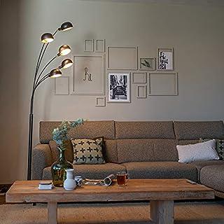 Qazqa Lampadaire | Lampe sur pied Design - Sixties Fl Lampe Noir - E14 - Convient pour LED - 5 x 25 Watt