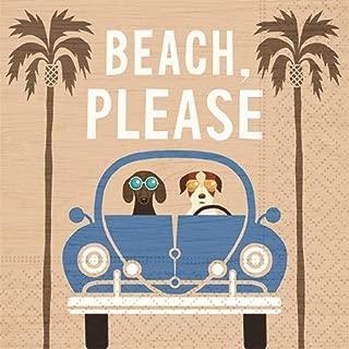 Beach Please Cocktail Napkins - Fun Beach Design, Party Supplies, 20 Beverage Napkins