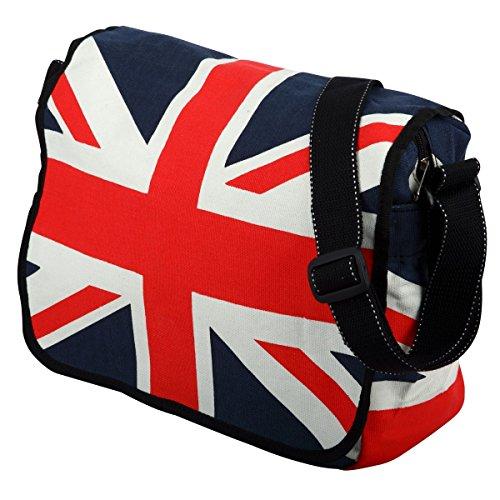 Borsa a tracolla in cotone con bandiera Union Jack