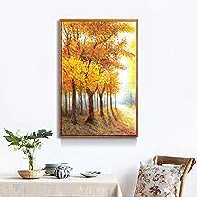 Paintsh Landscape Living Room Porch Modern Decorative Paintings Wall Paintings Porch Murals Birch Woods Vertical Version, ...