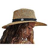 Hurley Women's Straw Hat - Santa Rosa Lightweight Wide Brim Panama Straw Sun Hat, Size One Size, Khaki