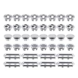 CHENKEE 40 unidades de tapón de rebosadero para lavabo, agujero redondo, anillo de rebosadero, revestimiento de malla, anillo de rebosadero para cocina, cuarto de baño