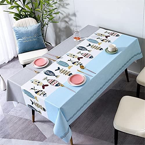 SUNFDD Mantel De PVC Impermeable, Mantel De Plástico Nórdico Resistente Al Aceite Y A Los Arañazos, Mesa De Comedor, Mesa De Centro 140x200cm(WxH) B