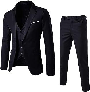 d951ddcbe146e CieKen Men s Suit Slim 3-Piece Suit Blazer Business Wedding Party Jacket  Vest   Pants
